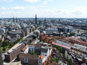 Areal view of Hamburg