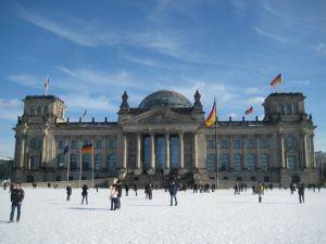Reichstag Berlin in Winter