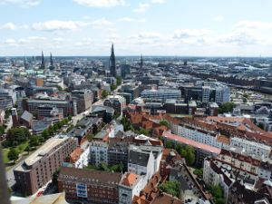 Areal view of Hamburg