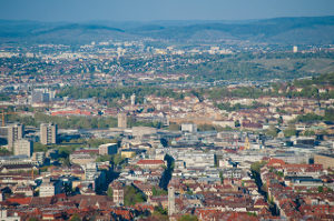 Areal view of Stuttgart