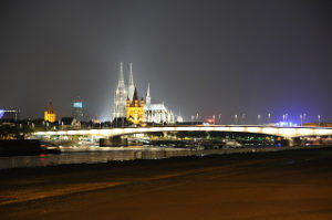 Night scene Cologne