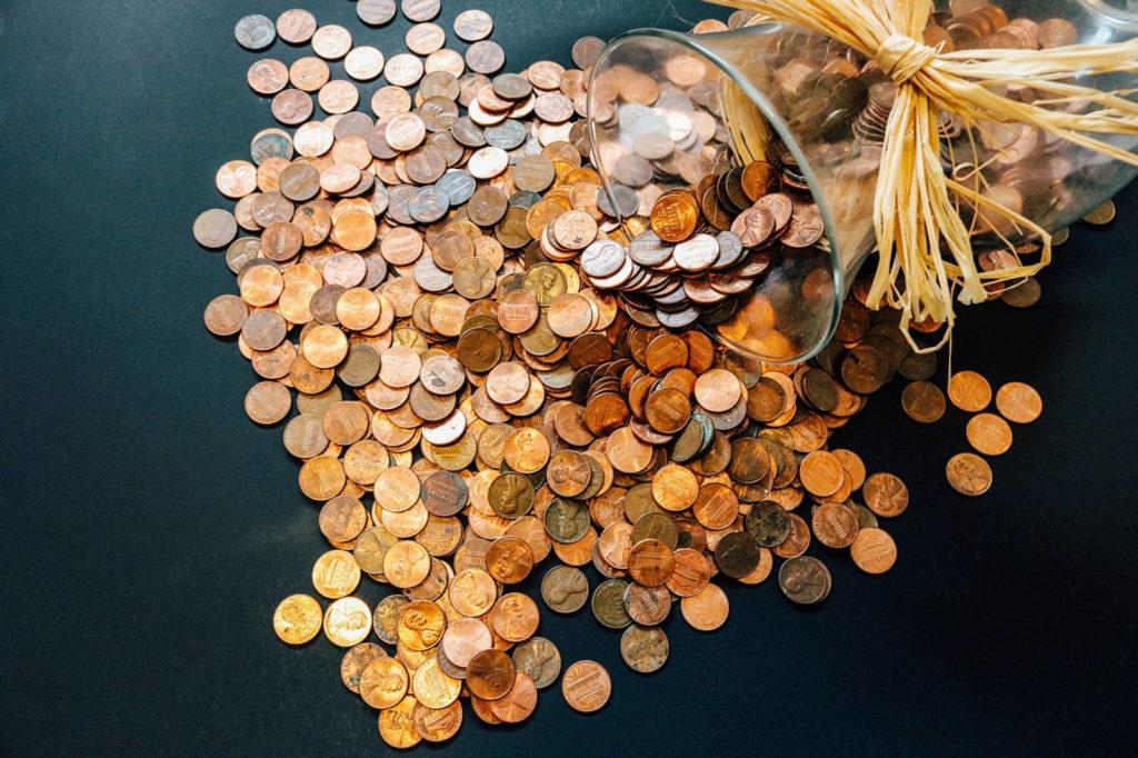 Bank account coins